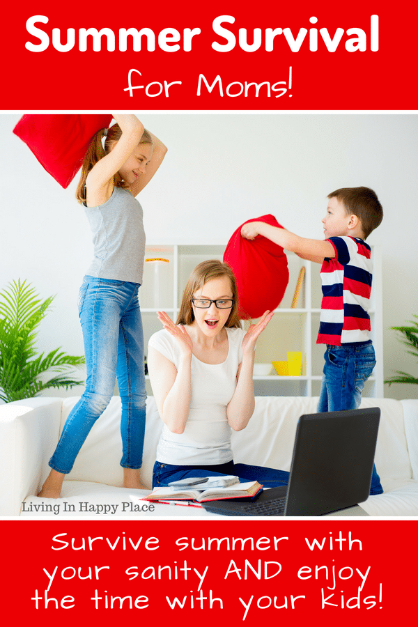 Summer Survival for moms! Spend their 18 short summers having fun and making family memories! Summe survival tips to help mom run a household while the kids are at home, summer activities for kids, and family bonding ideas to complete your summer bucket list and have some low-stress summer fun! #summer #ideas #summerfun #parenting #summersurvival #kids #summeractivitiesforkids #summerbucketlist