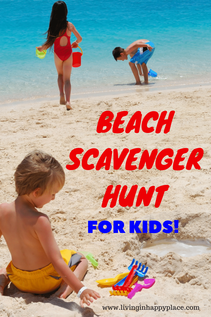 Printable Beach Scavenger Hunt for kids