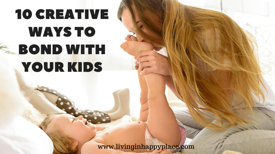 10 Ways to bond with your kids doing everyday tasks- Free printable list!