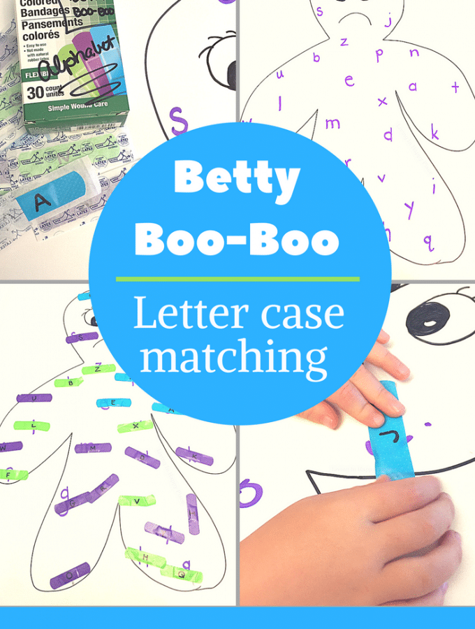 Betty Boo-Boo:  Band-aid letter matching activity for preschoolers