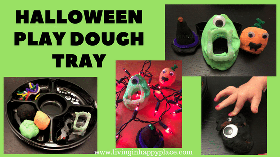 Halloween Play Dough Tray Activity