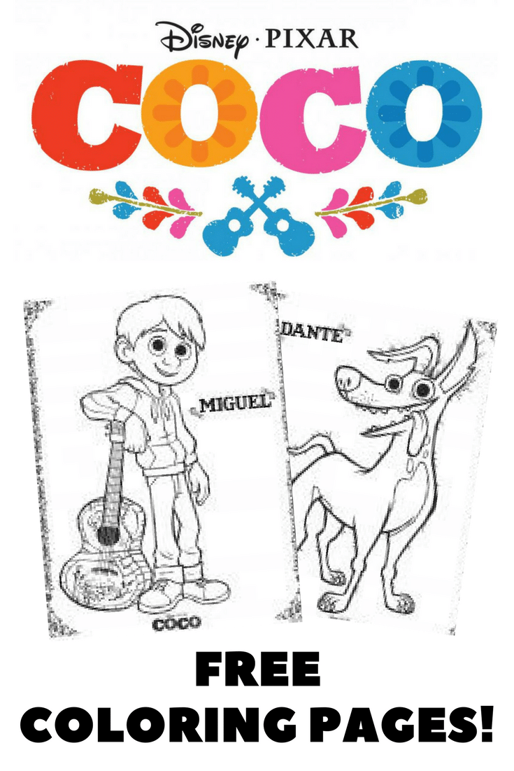 Disneys Coco Coloring Pages And Activity Sheets Free Printables