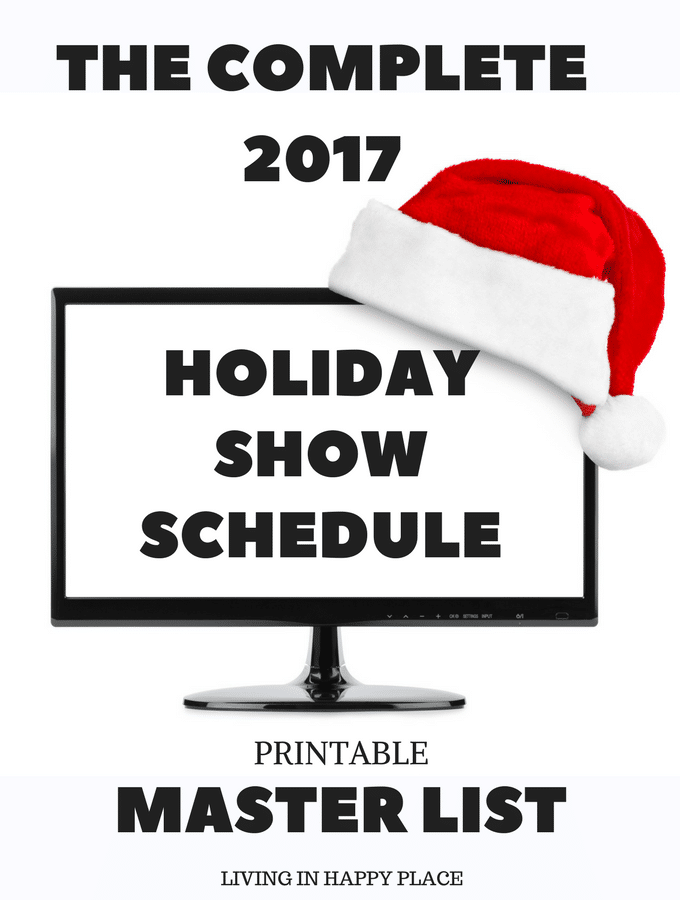 2017 TV Christmas specials schedule! All the networks, all the favorites, all the 2017 tv Christmas specials and classics in one printable list!