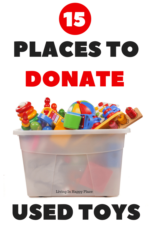 Places to donate used toys or sell used toys