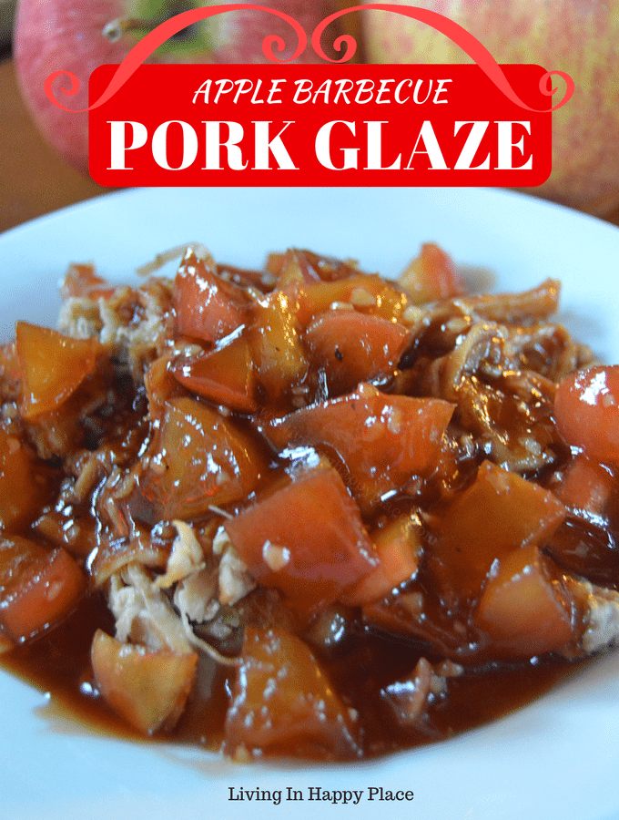 Apple BBQ Pork Glaze or pork sauce is the perfect addition to your easy dinner recipe! Spice up a boring pork tenderloin recipe, pork chop recipe, or pork loin recipe with the perfect blend of sweet apples, tangy barbecue, and a touch of honey. #porkrecipe #pork #porkglaze #porkchoprecipe #porkloinrecipe