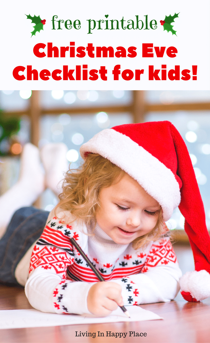 Christmas Eve Checklist for kids!