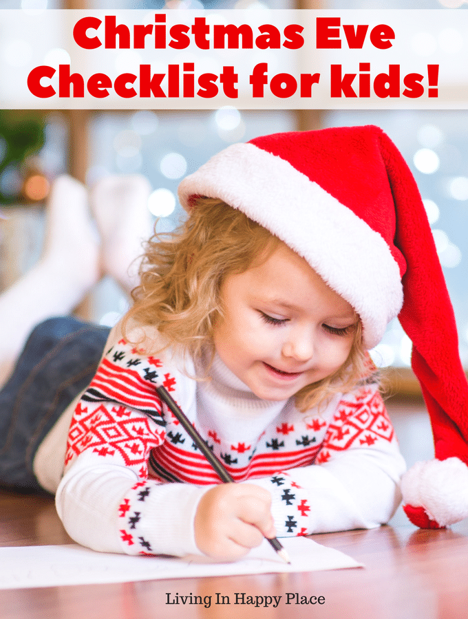 Keep your family holiday traditions alive with a printable Christmas Eve Checklist for kids