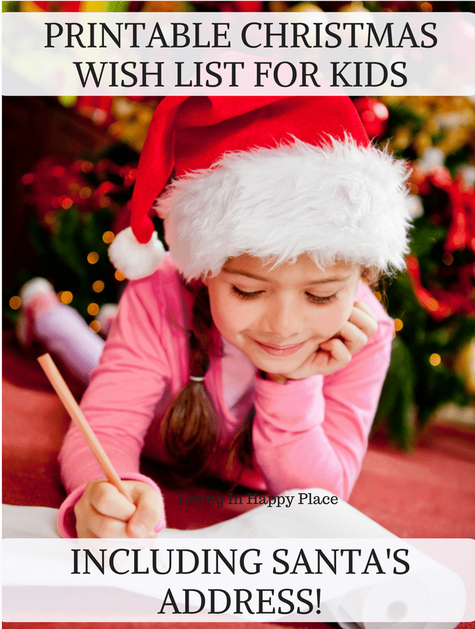 Printable Christmas List! SANTA's address at the North Pole included!