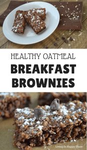 Healthy breakfast brownies