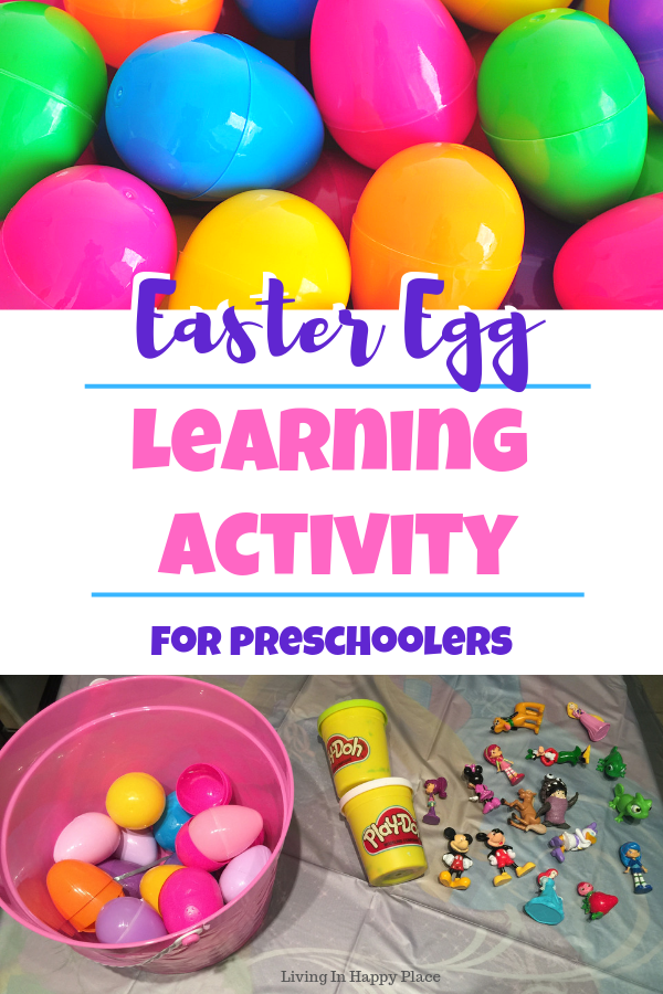 Plastic Easter eggs idea: DIY surprise egg preschool learning game and Mommy & Me activity!