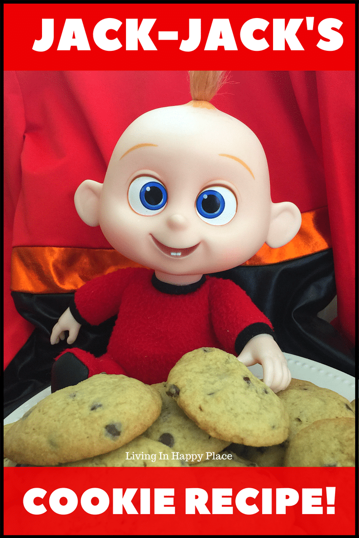 You can make Jack-Jack's favorite chocolate chip cookies from Incredibles 2! This Incredibles cookie recipe is straight from Disney and they are soft, chewy, and delicious! If your kids love Jack-Jack, Elastagirl, Violet, Dash, or Mr. Incredible himself, they will love this cookie recipe. These Incredibles cookies would be a fun Incredibles birthday party idea, movie night, or after school snack. #incredibles2 #JackJack #cookies #dessert #recipe #Incredibles #movienight #Disney #kids #movies