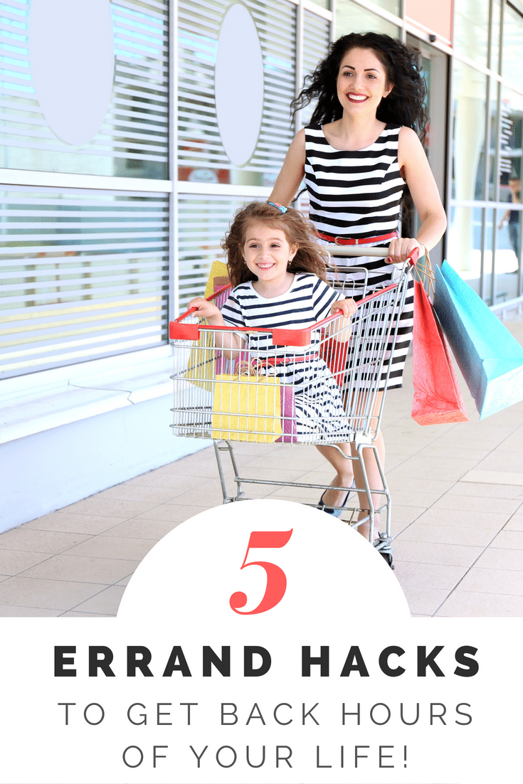 Have an errands list a mile long? Dread the thought of taking the kids shopping? You can run errands without dragging your kids to the store. These errand hacks will save you time and sanity. Moms to-do list can get accomplished without tantrums or tears. #momhacks #momlife #parenting #parentingtips #parentinghacks #shopping #kids #errands #todolist #errandlist