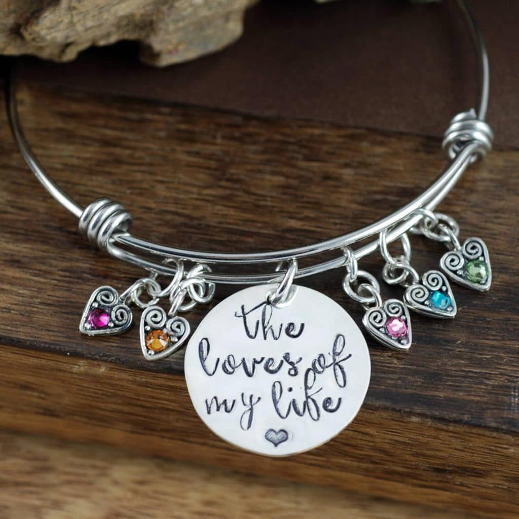 Mother's birthstone bracelet gift