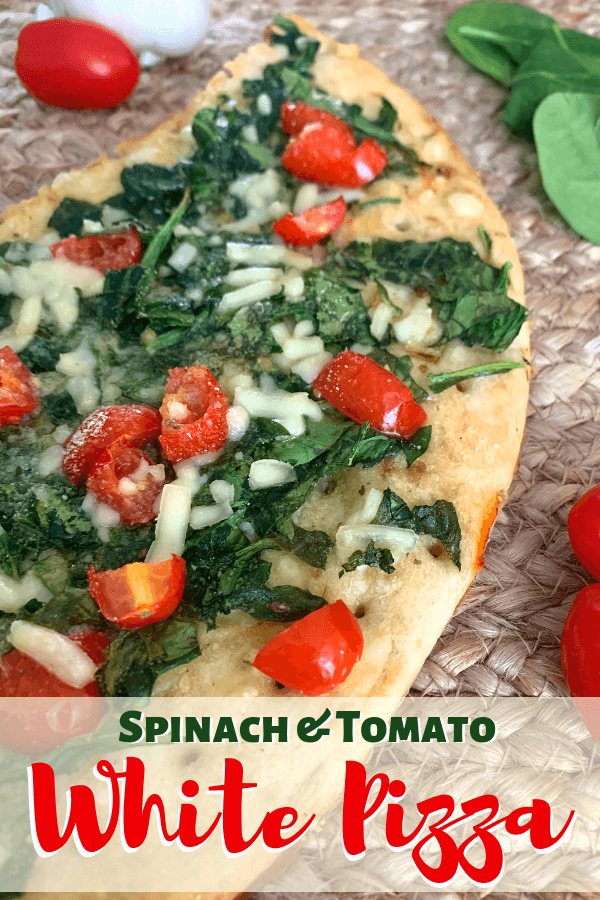 Spinach & Tomato white Pizza