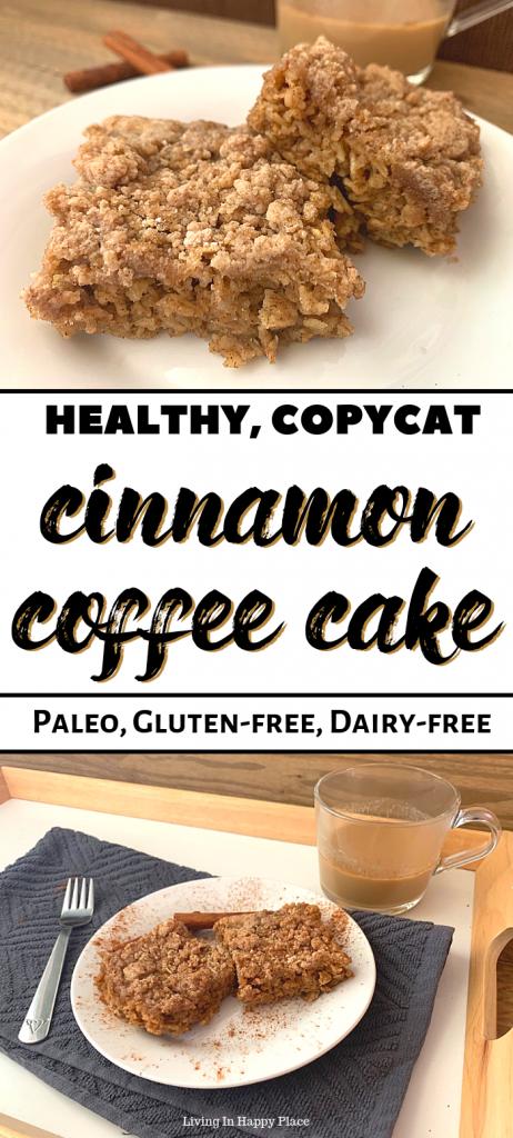 Healthy cinnamon coffee cake recipe on a plate