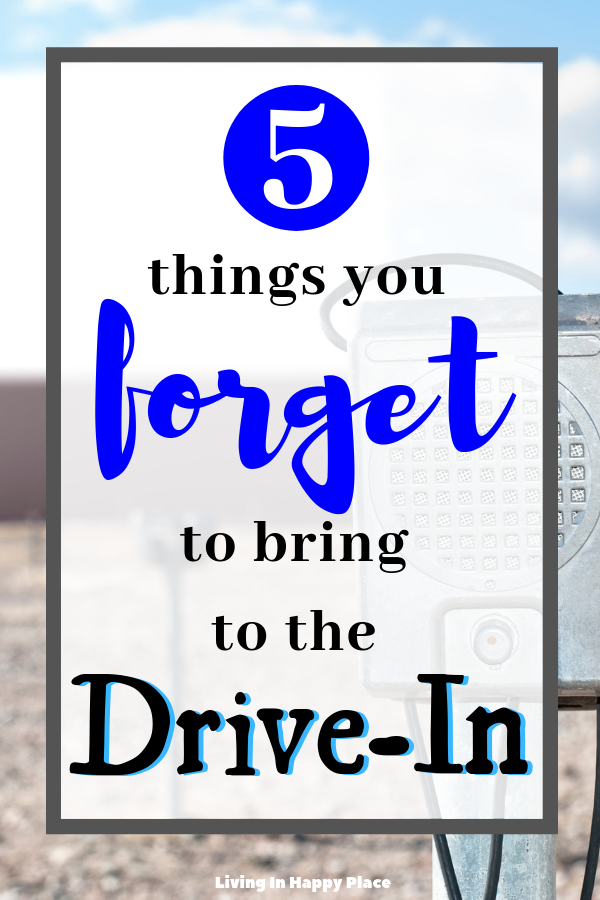 5 Things you probably don't think to bring to the drive-in