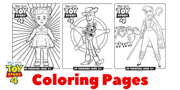 Toy story 4 character coloring pages