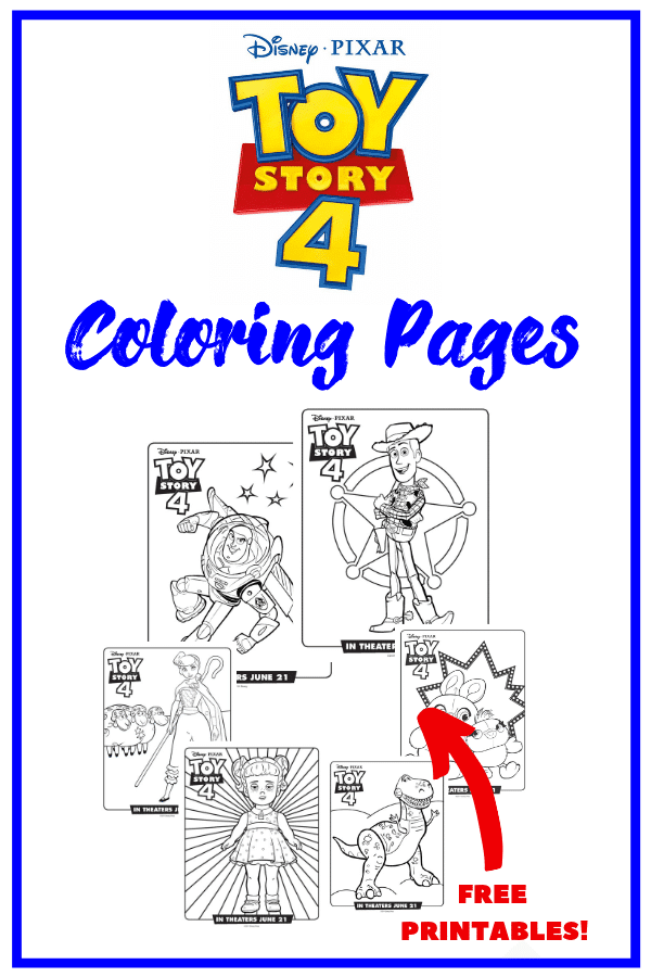 Toy Story 4 Characters Coloring Pages or Coloring Sheets ...