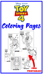 Free printable TOY STORY 4 Coloring Pages