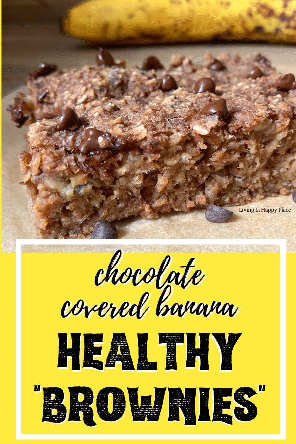 Heavenly and Healthy Chocolate Covered Banana Brownies! Dairy-free, flourless, and irresistible!